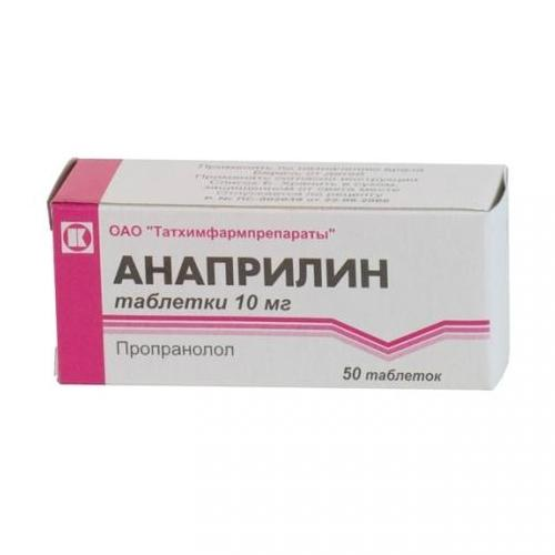 anaprilin 1 - Anaprilin composition indications for the use of dignity and contraindications
