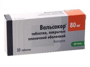 Вальсакор 80 таблетки